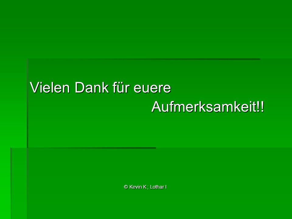 Vielen Dank für euere Aufmerksamkeit!! Aufmerksamkeit!! © Kevin K ; Lothar I © Kevin K ; Lothar I