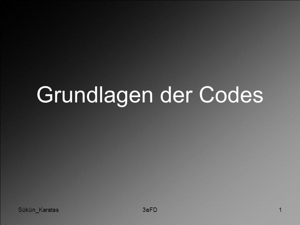 Sükün_Karatas3aFD1 Grundlagen der Codes