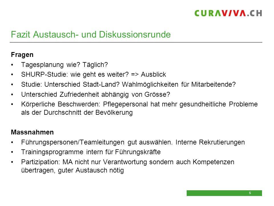 6 6 Download Unterlagen Die Unterlagen des heutigen CURAVIVA- Impulstages finden Sie in rund einer Woche auf: www.curaviva.ch/veranstaltungen => Impulstage 2015 => Unterlagen Impulstage 2015