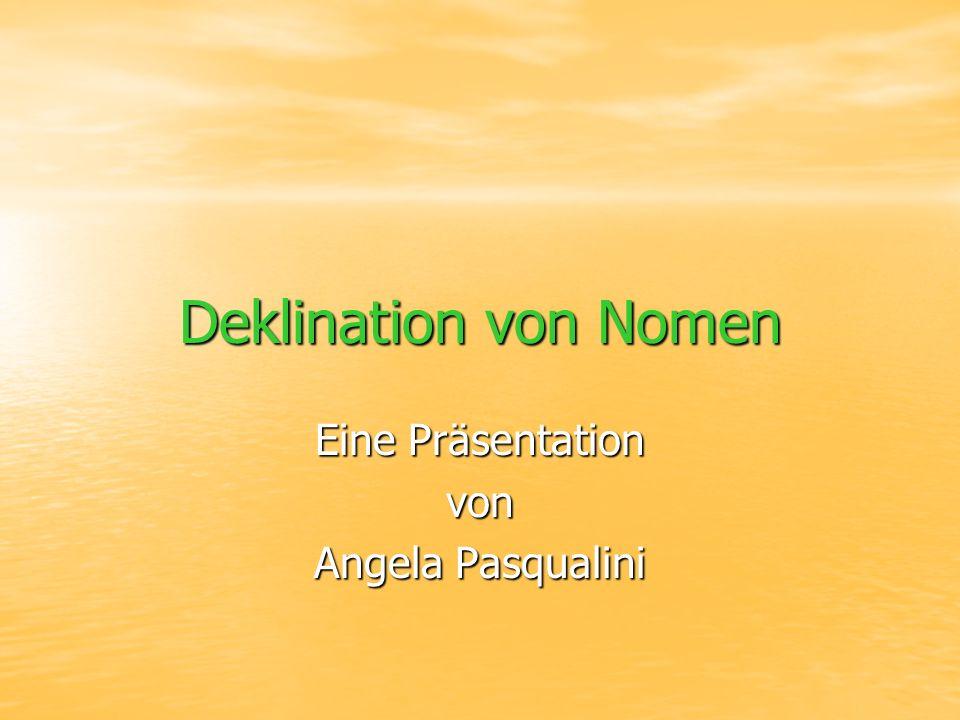 Die vier Fälle Nominativ 1.Fall Wer. Oder Was. Nominativ 1.