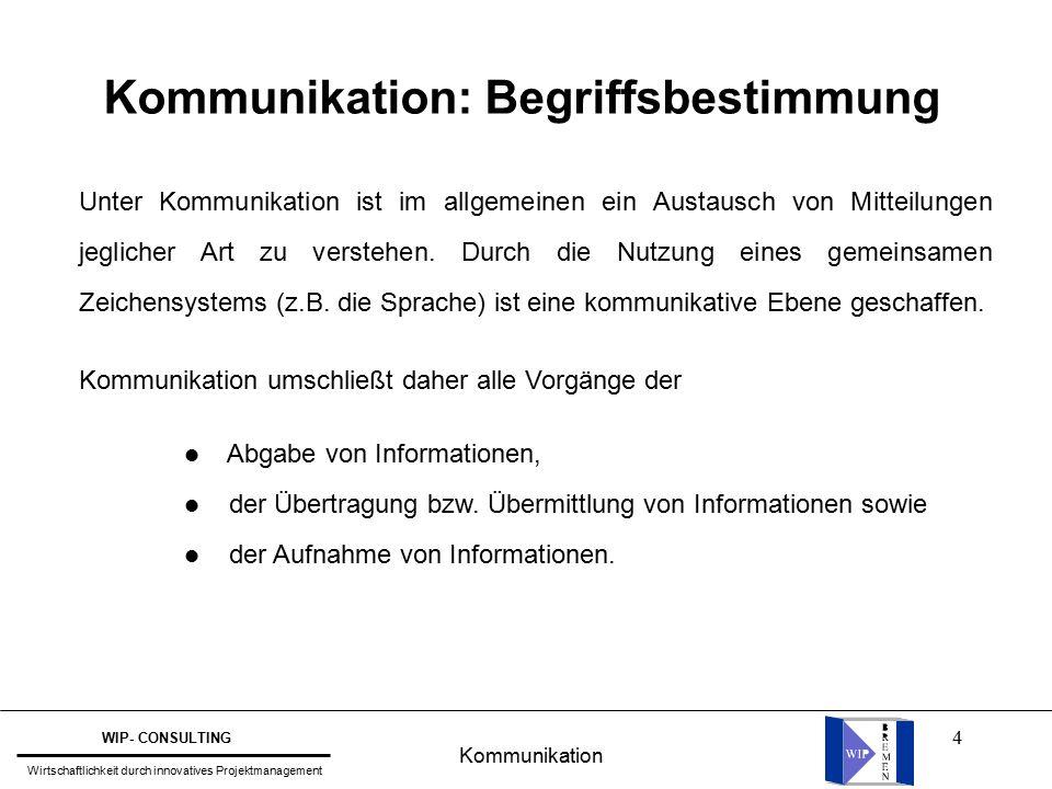 4 Kommunikation: Begriffsbestimmung Unter Kommunikation ist im allgemeinen ein Austausch von Mitteilungen jeglicher Art zu verstehen.