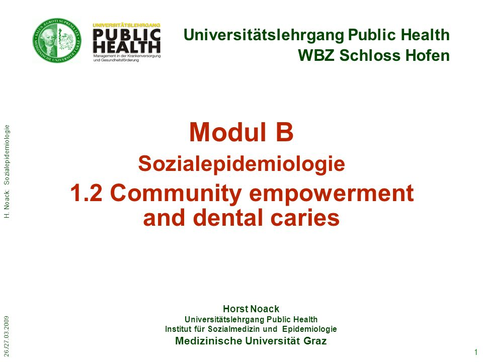 26./27.03.2009 H.Noack: Sozialepidemiologie 2 Do.