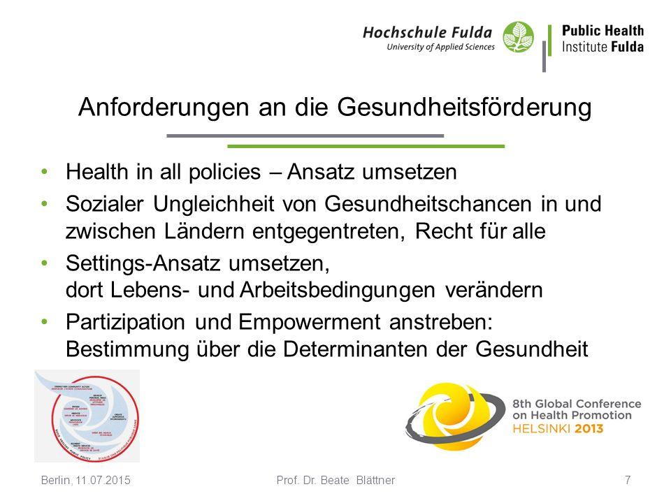 Erklärung gesundheitlicher Ungleichheit Prof.Dr.