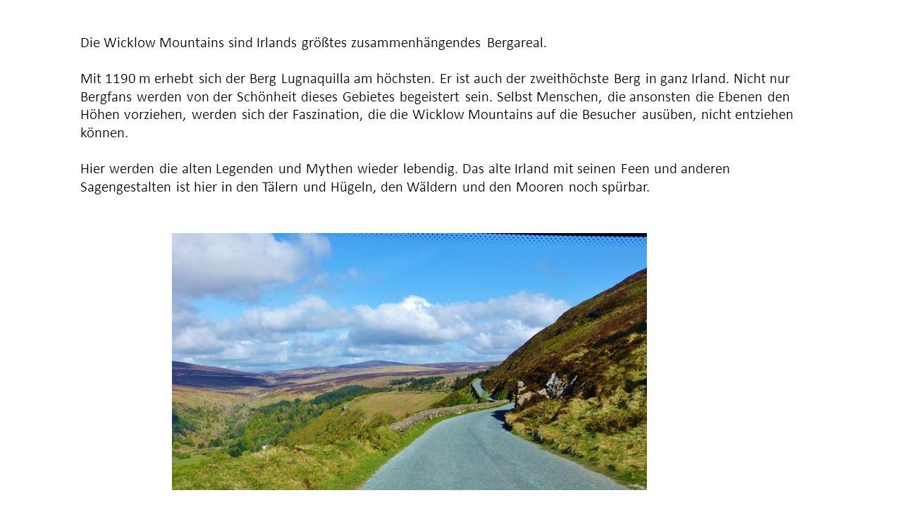 Die Wicklow Mountains sind Irlands größtes zusammenhängendes Bergareal.