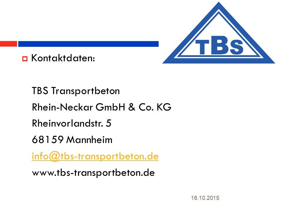 3  Kontaktdaten: TBS Transportbeton Rhein-Neckar GmbH & Co.