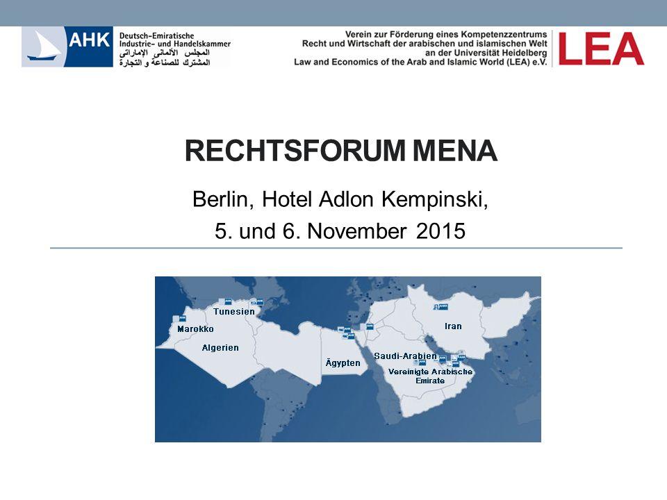 Die MENA-Region (Middle East North Africa) ist derzeit politisch und wirtschaftlich im Wandel, ohne dass absehbar wäre, was am Ende der Entwicklung stehen wird.