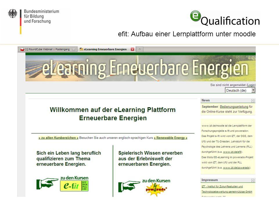 efit: Aufbau einer Lernplattform unter moodle