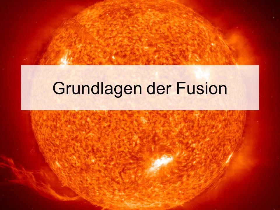 Bindungsenergie Mit freundlicher Genehmigung des Max-Planck-Institutes für Plasmaphysik (IPP) 2,8 MeV 8,8 MeV 1,1 MeV 7,1 MeV