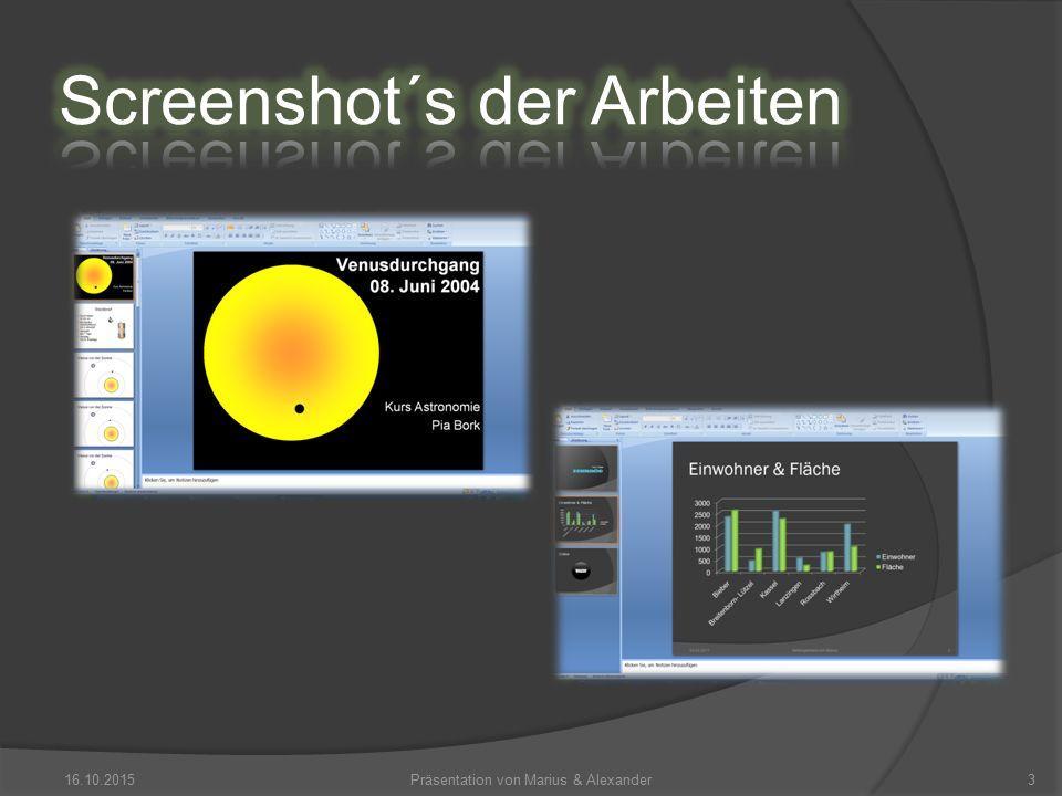 16.10.2015Präsentation von Marius & Alexander3