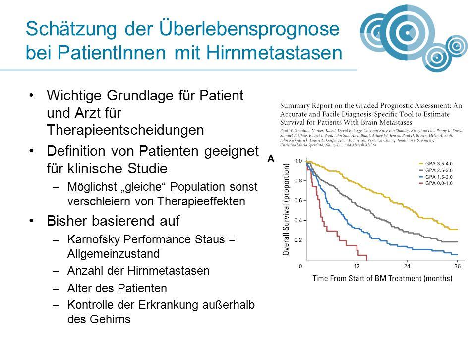 """Wichtige Grundlage für Patient und Arzt für Therapieentscheidungen Definition von Patienten geeignet für klinische Studie –Möglichst """"gleiche"""" Populat"""