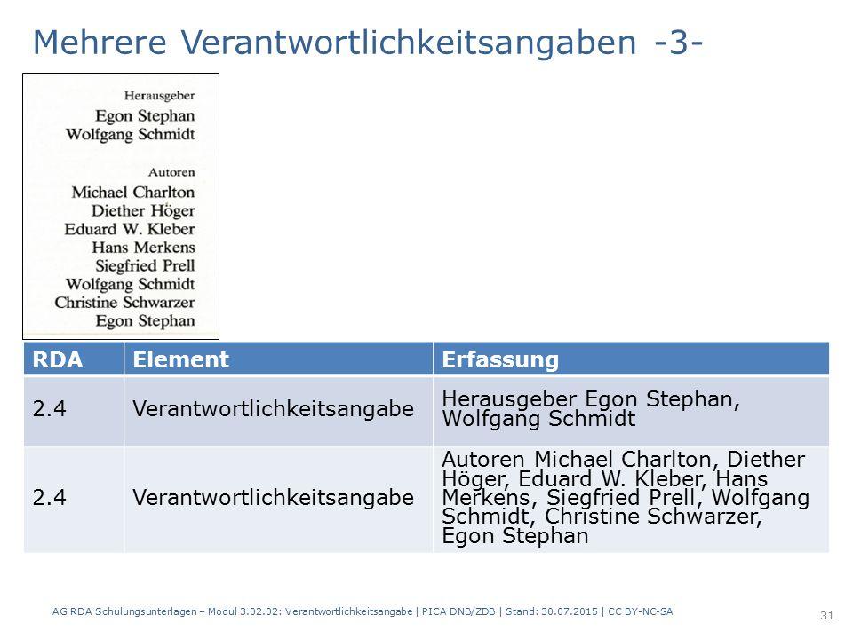 RDAElementErfassung 2.4Verantwortlichkeitsangabe Herausgeber Egon Stephan, Wolfgang Schmidt 2.4 Verantwortlichkeitsangabe Autoren Michael Charlton, Diether Höger, Eduard W.