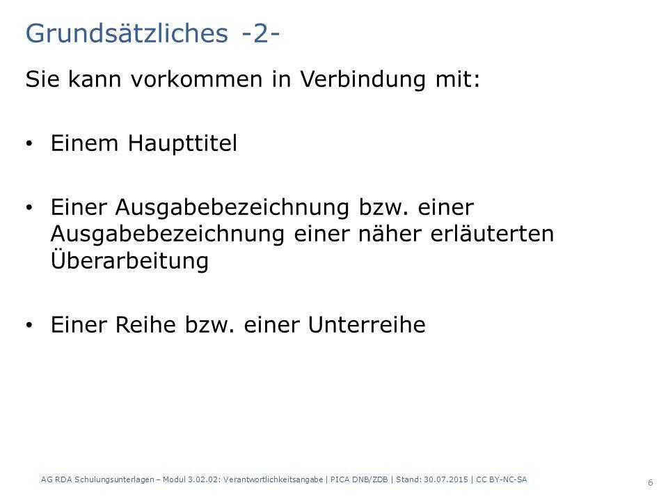 RDAElementErfassung 2.4 Verantwortlichkeits- angabe Klaus Westphalen und andere Mehrere Personen usw.