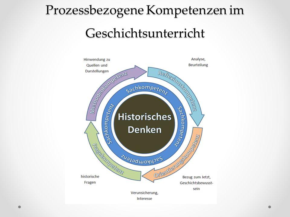 Prozessbezogene Kompetenzen im Geschichtsunterricht