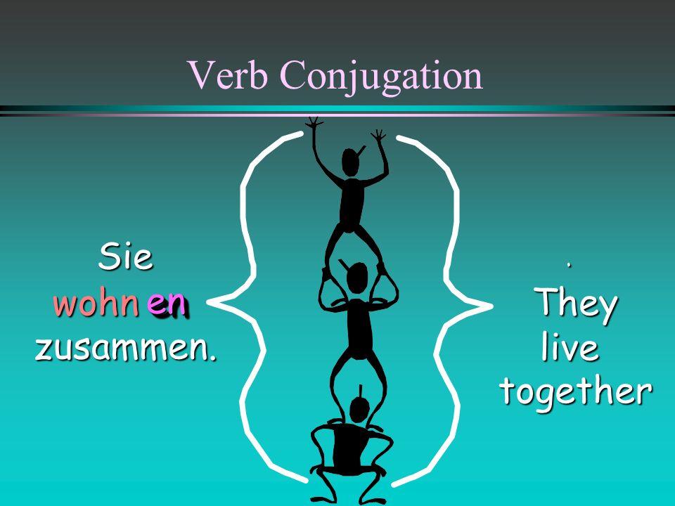 Verb Conjugation They play together. play together.Sie spielen zusammen