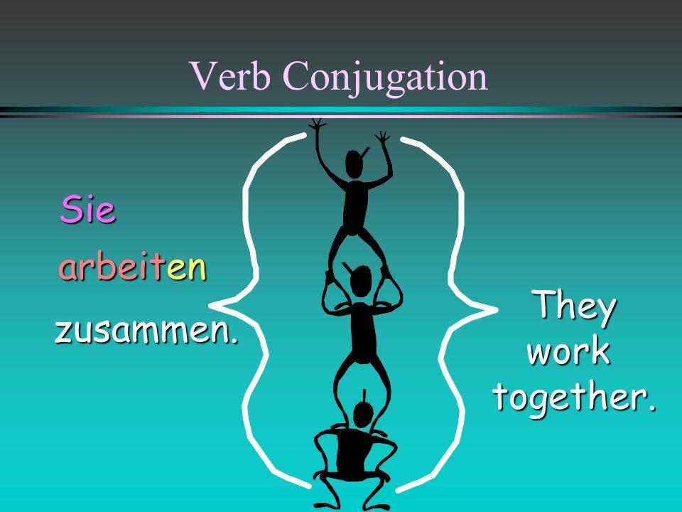 Verb Conjugation Siezusammen.. enenwohnTheylivetogether