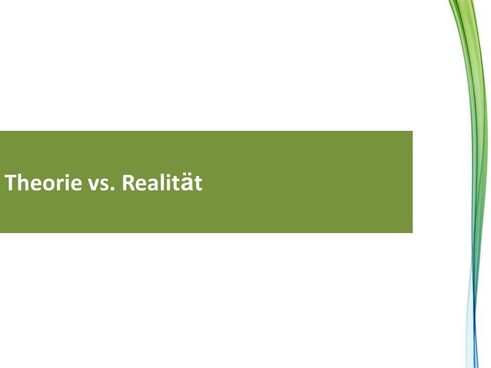 Theorie vs. Realit ä t