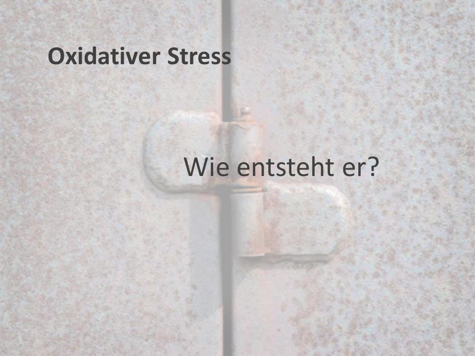 Wie entsteht er? Oxidativer Stress