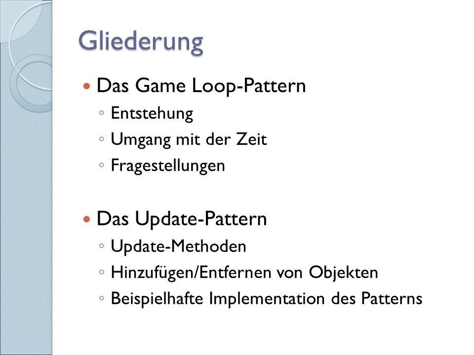 Entstehung von Game Loops Früher: batch mode programs  Bedarf nach Feedback (Bug-Suche etc.)  erste interaktive Programme (z.B.