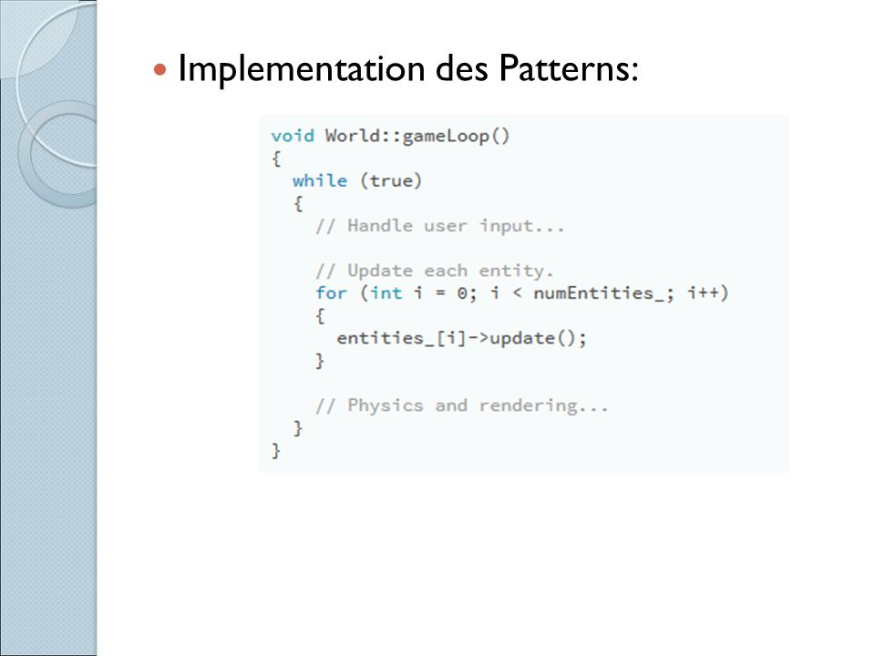 Implementation des Patterns: