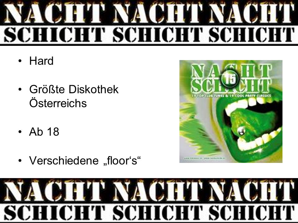 """Hard Größte Diskothek Österreichs Ab 18 Verschiedene """"floor's"""