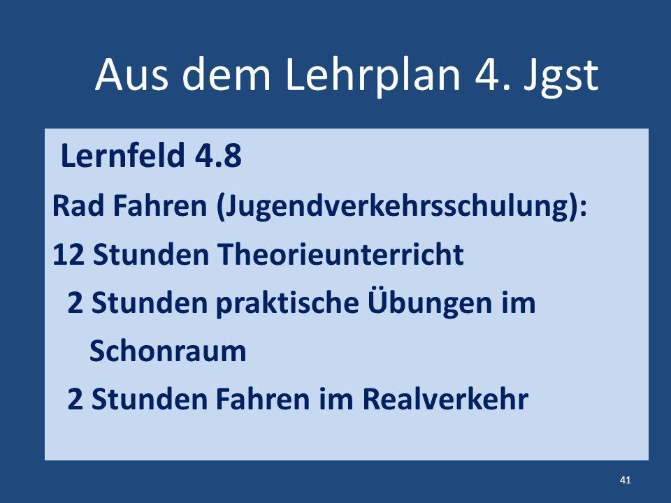 Aus dem Lehrplan 4.