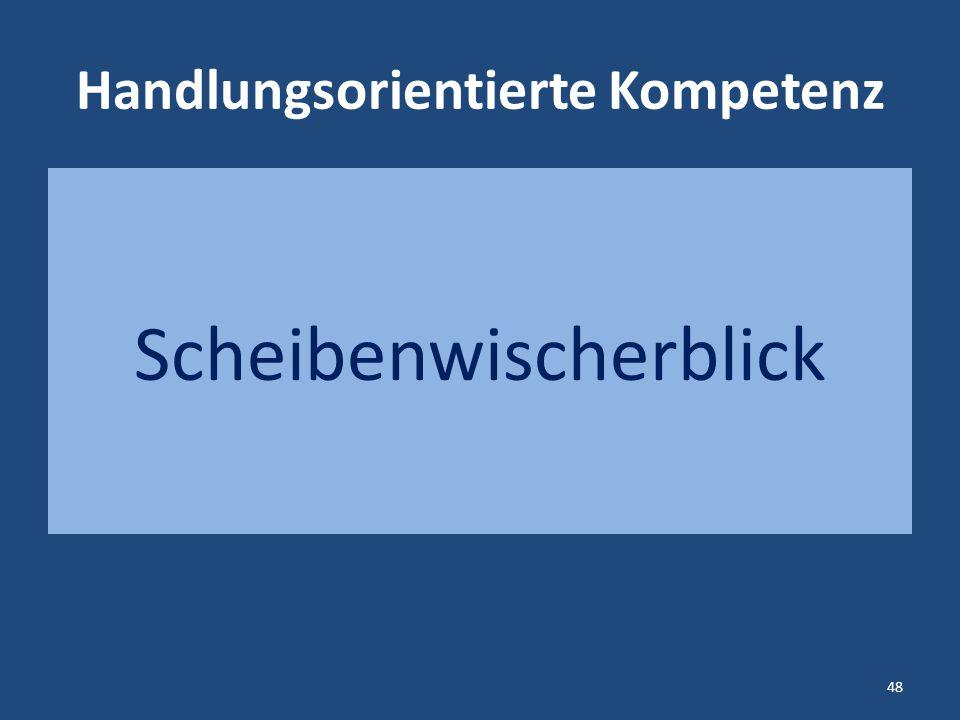 Handlungsorientierte Kompetenz Scheibenwischerblick 48