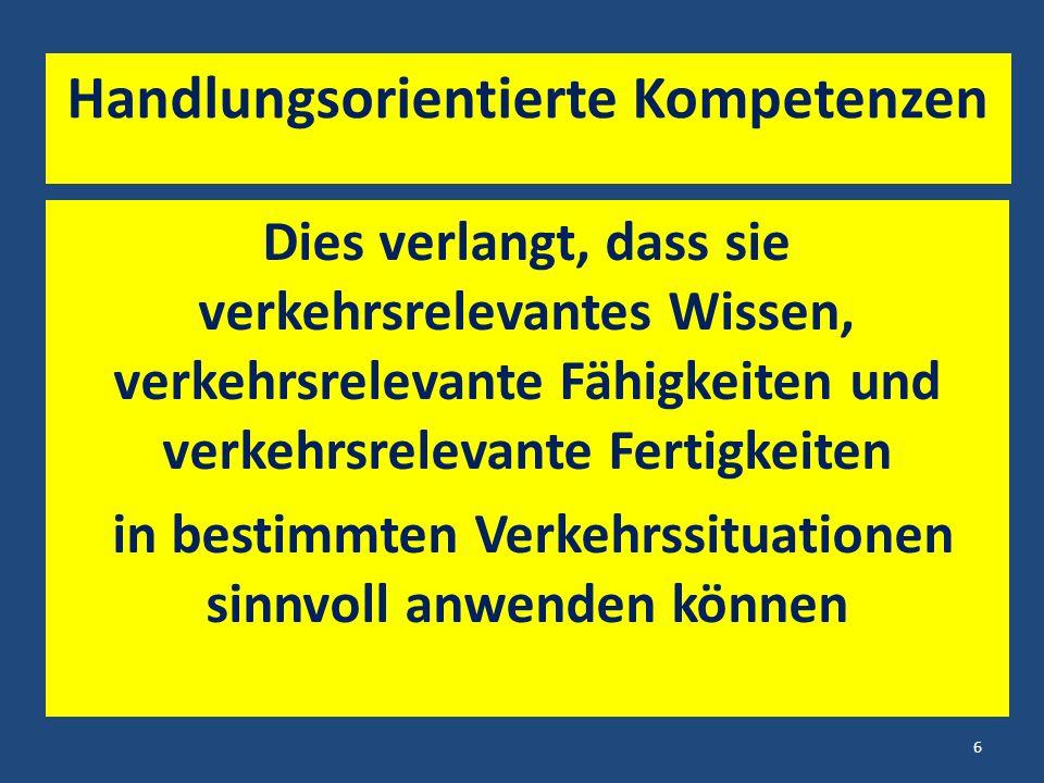 Eine weitere Frage Wieso wird dennoch in der Mehrzahl der bayerischen Grund- (und Mittelschulen) ein erfolgreicher, in seiner Wirksamkeit nachhaltiger Verkehrsunterricht erteilt .