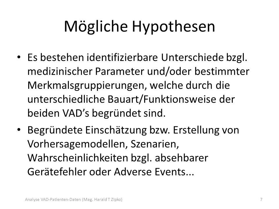 Mögliche Hypothesen Es bestehen identifizierbare Unterschiede bzgl.