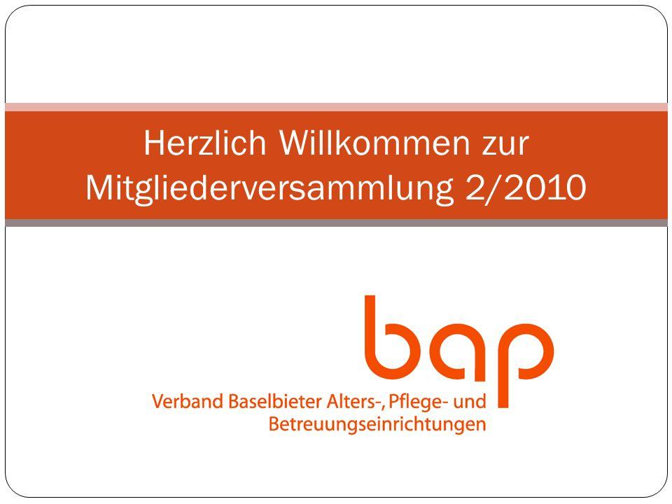 Herzlich Willkommen zur Mitgliederversammlung 2/2010
