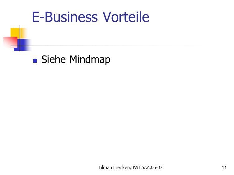 Tilman Frenken,BWI,5AA,06-0711 E-Business Vorteile Siehe Mindmap