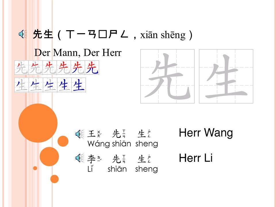 李 (ㄌㄧ ˇ ; lǐ ) Familienname, die Pflaume