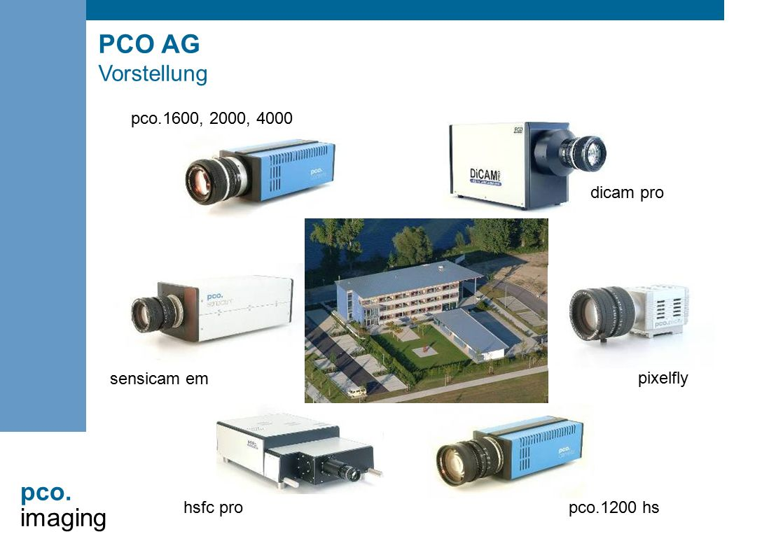pco. imaging dicam pro pixelfly pco.1200 hs hsfc pro sensicam em pco.1600, 2000, 4000 PCO AG Vorstellung