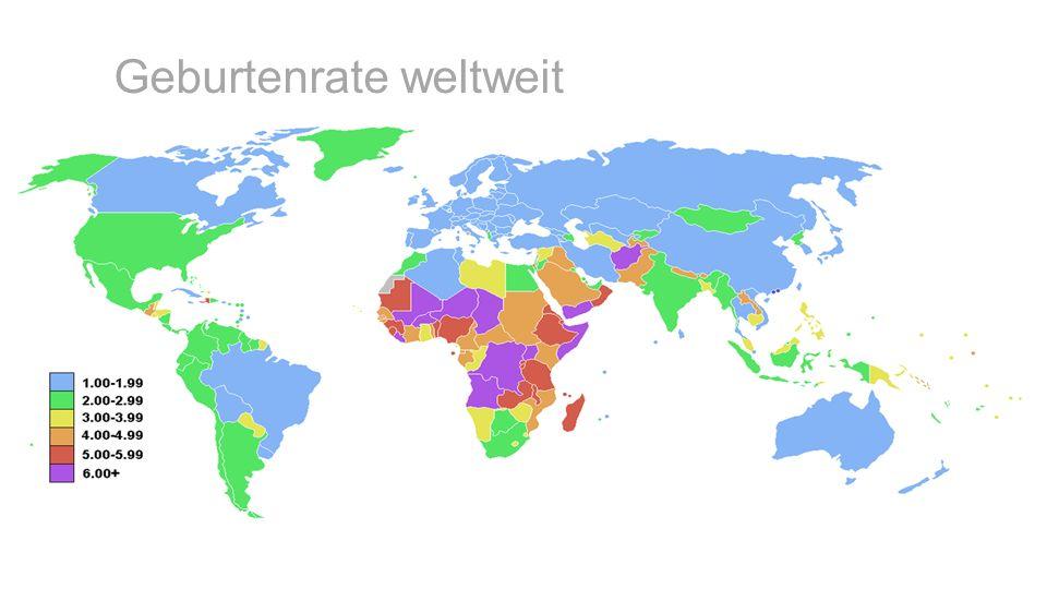 Geburtenrate weltweit
