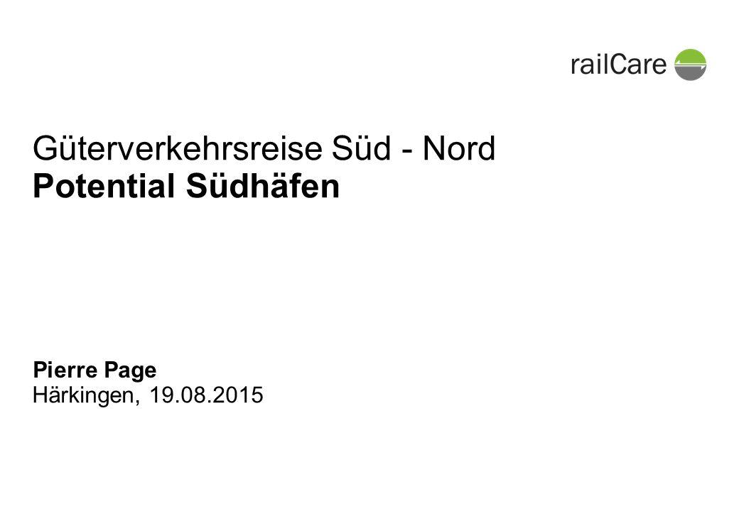 Härkingen, 19.08.2015 Güterverkehrsreise Süd - Nord Potential Südhäfen Pierre Page
