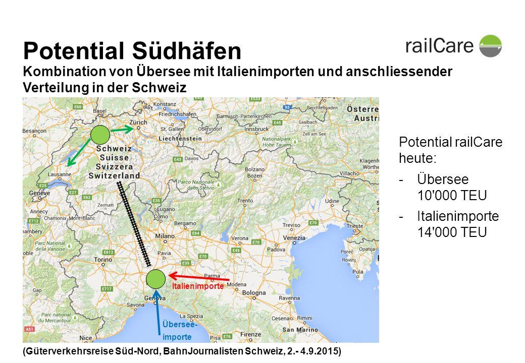 Vielen Dank für Ihre Aufmerksamkeit Kontakt: Pierre Page Leiter Kunden + Produkte +41 62 388 93 72 pierre.page@railcare.ch (Güterverkehrsreise Süd-Nord, BahnJournalisten Schweiz, 2.- 4.9.2015)