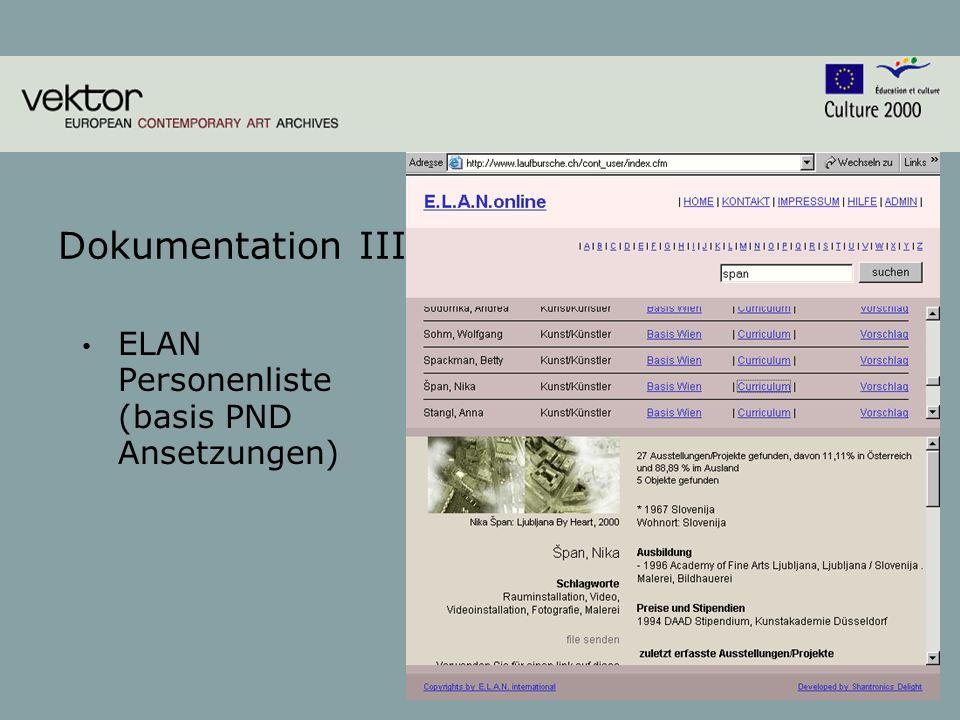 7 Dokumentation III ELAN Personenliste (basis PND Ansetzungen)