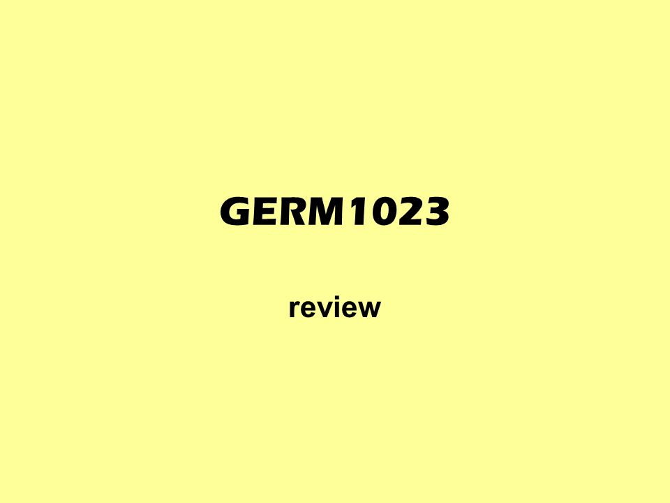 GERM1023 review