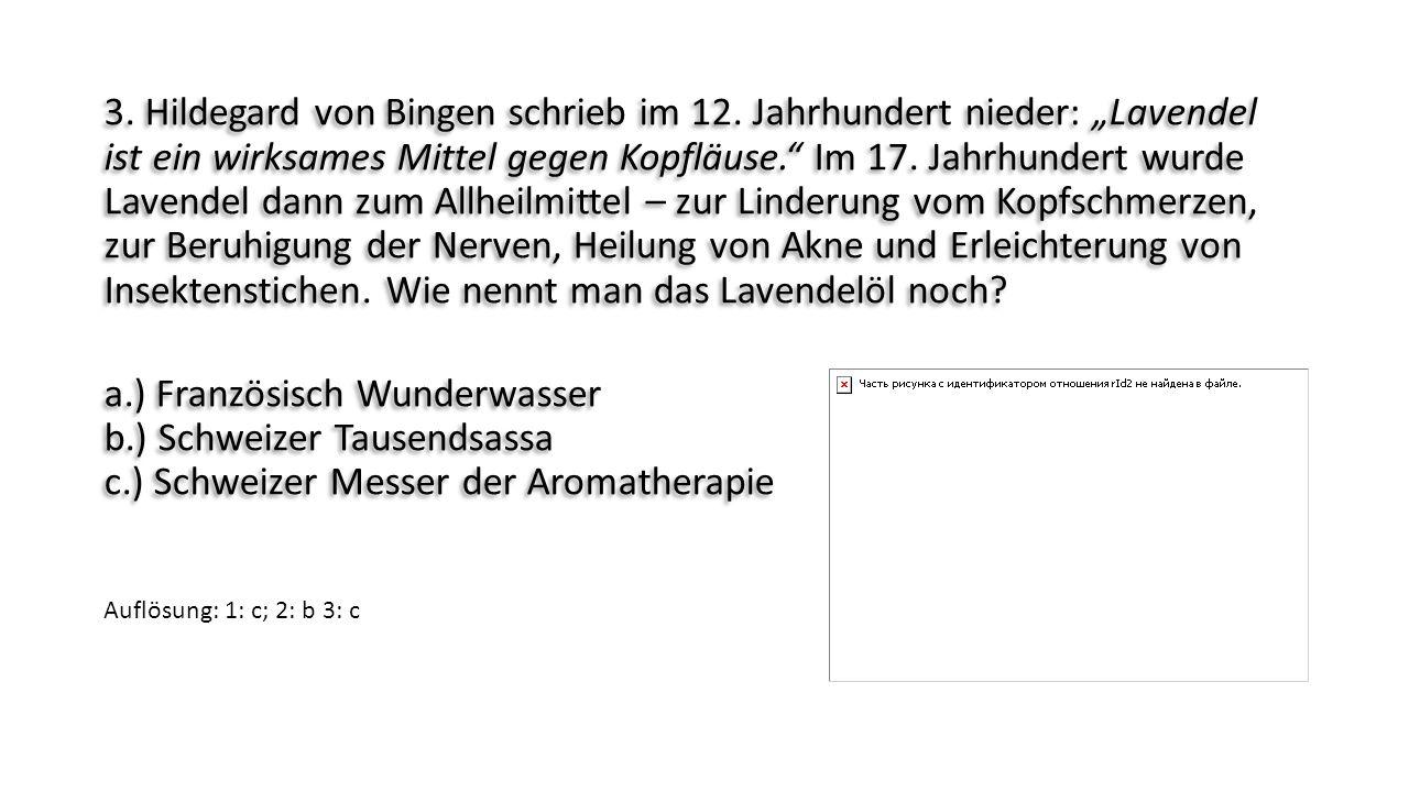 """3. Hildegard von Bingen schrieb im 12. Jahrhundert nieder: """"Lavendel ist ein wirksames Mittel gegen Kopfläuse."""" Im 17. Jahrhundert wurde Lavendel dann"""