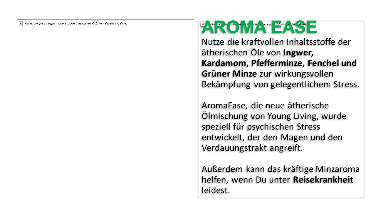 AROMA EASE Nutze die kraftvollen Inhaltsstoffe der ätherischen Öle von Ingwer, Kardamom, Pfefferminze, Fenchel und Grüner Minze zur wirkungsvollen Bek