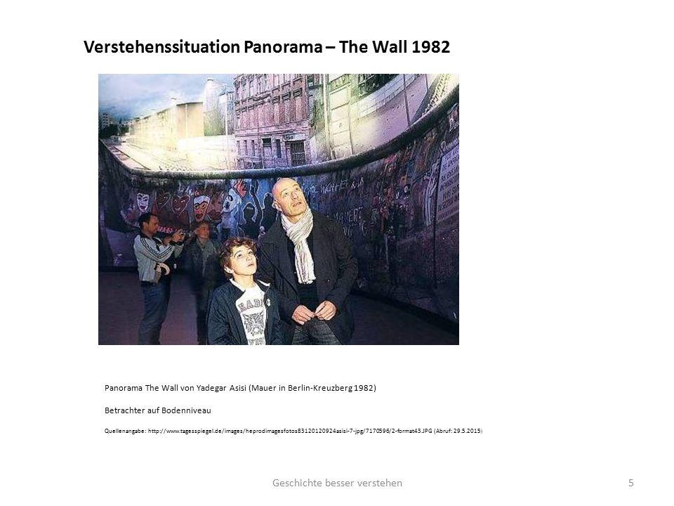 Verstehenssituation Panorama – The Wall 1982 Panorama The Wall von Yadegar Asisi (Mauer in Berlin-Kreuzberg 1982) Betrachter auf Bodenniveau Quellenan