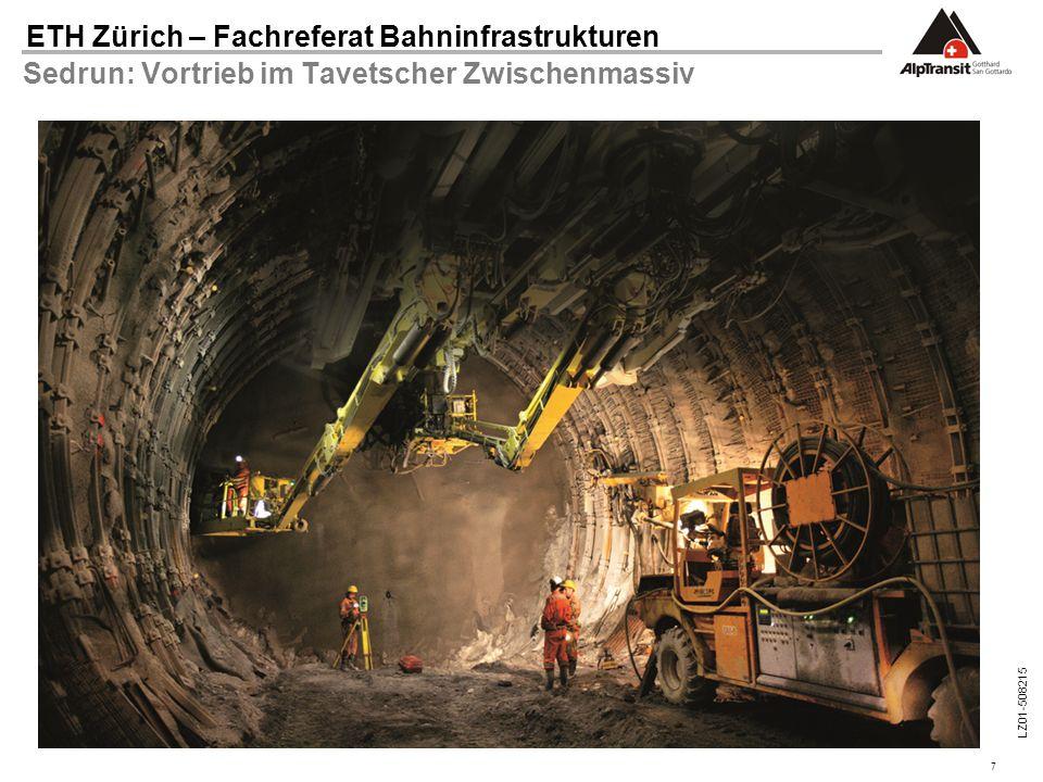 7 ETH Zürich – Fachreferat Bahninfrastrukturen LZ01-508215 Sedrun: Vortrieb im Tavetscher Zwischenmassiv