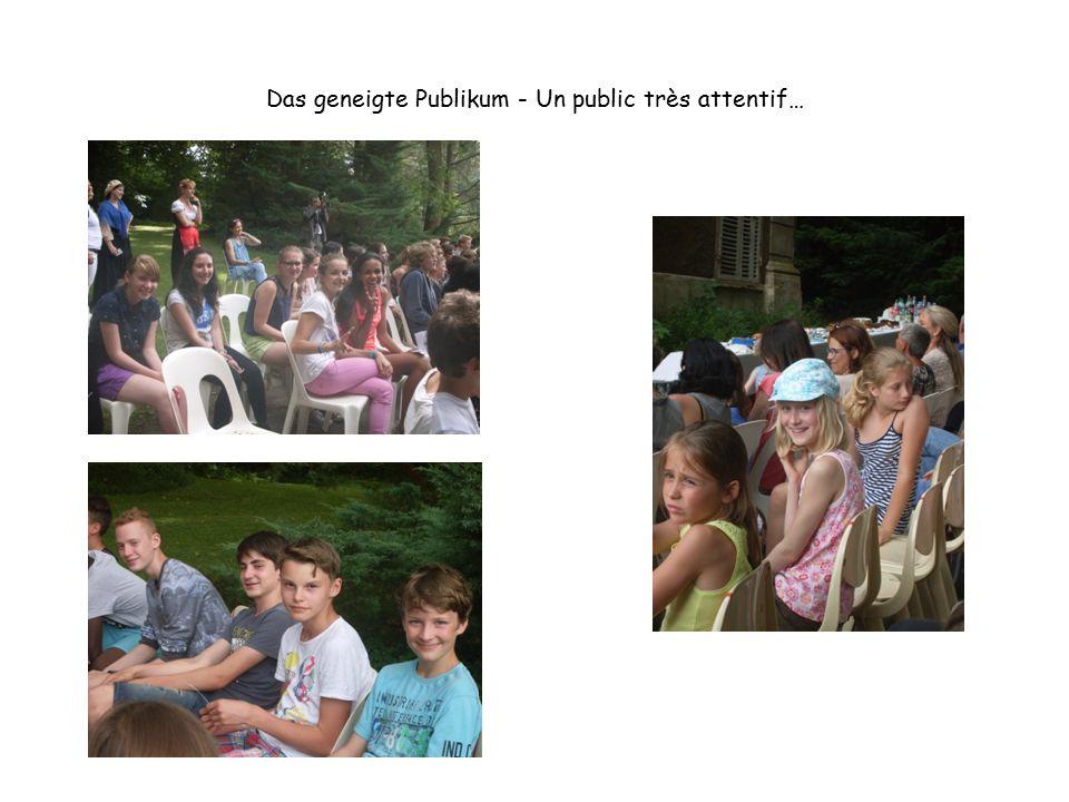 Das geneigte Publikum - Un public très attentif…