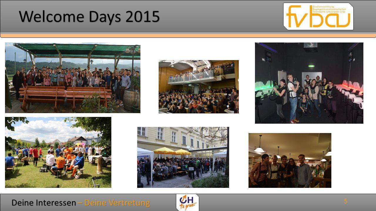 Deine Interessen – Deine Vertretung Deine Interessen – Deine Vertretung Welcome Days 2015 Welcome Days 2015 Wie erreichst du uns.
