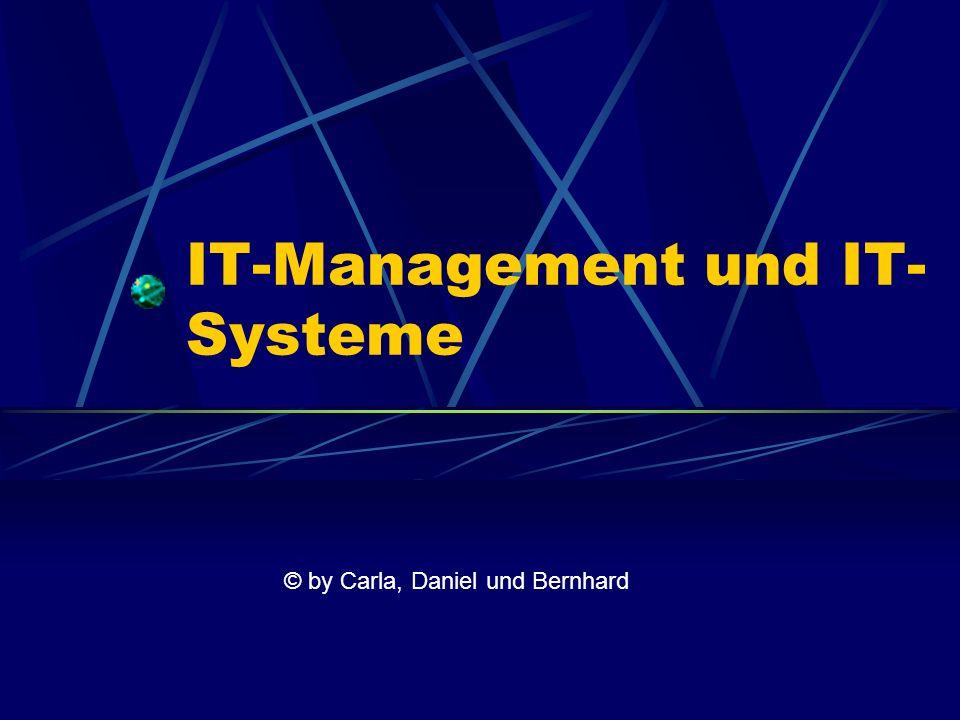 IT-Management und IT- Systeme © by Carla, Daniel und Bernhard