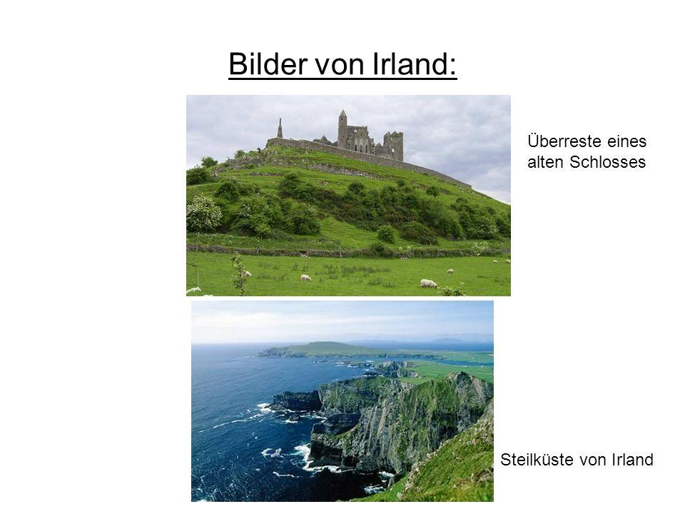 Bilder von Irland: Steilküste von Irland Überreste eines alten Schlosses