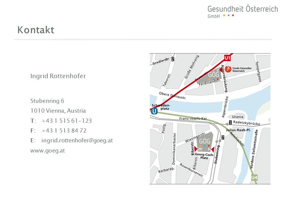 Kontakt Ingrid Rottenhofer Stubenring 6 1010 Vienna, Austria T:+43 1 515 61-123 F:+43 1 513 84 72 E:ingrid.rottenhofer@goeg.at www.goeg.at
