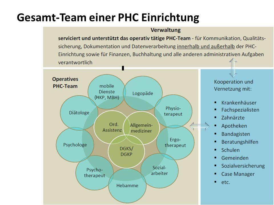 12 Gesamt-Team einer PHC Einrichtung