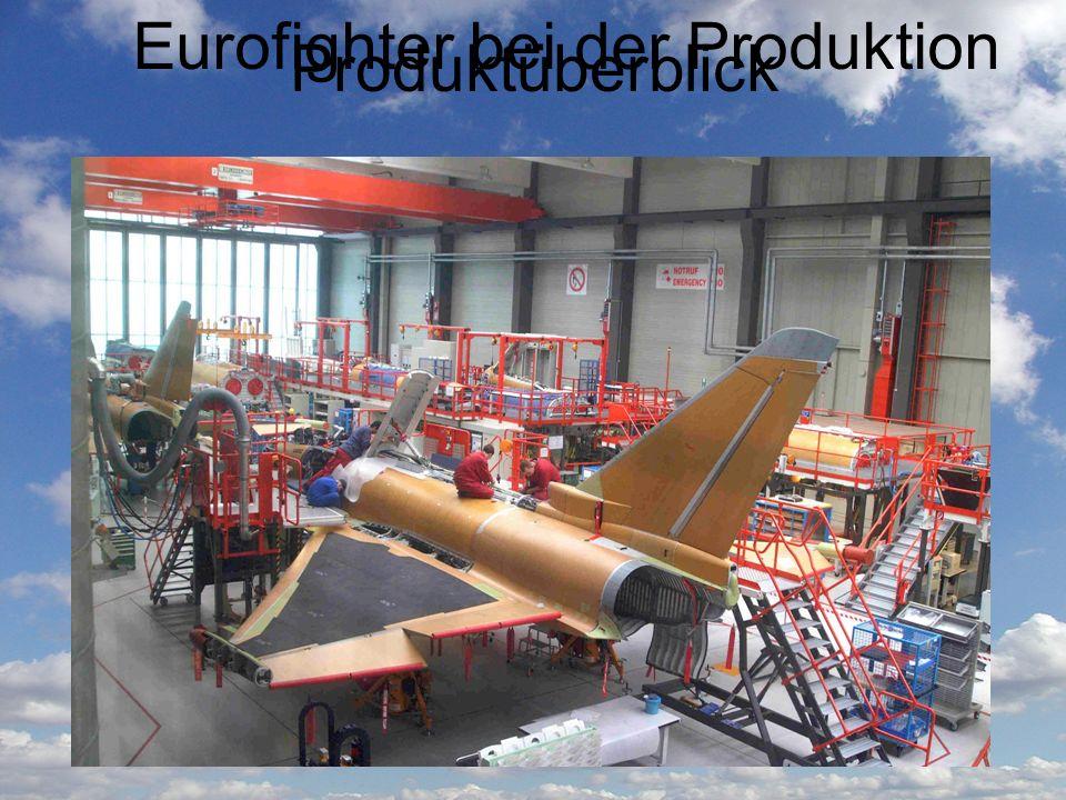 Produktüberblick Entworfen von: Eurofighter GmbH Erstflug: 27. März 1994 Im Einsatz seit: 25. Juli 2006 Wird in Serie produziert seit: 2003 Bisher pro