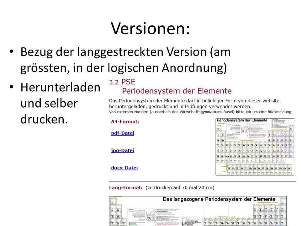 Versionen: Bezug der langgestreckten Version (am grössten, in der logischen Anordnung) Herunterladen und selber drucken.