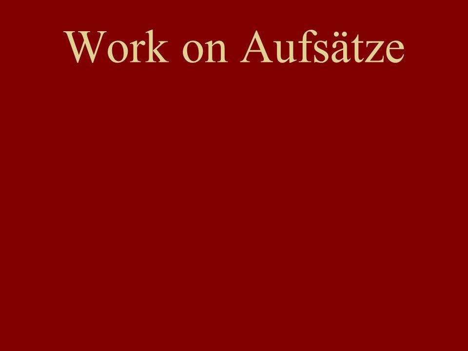 Work on Aufsätze